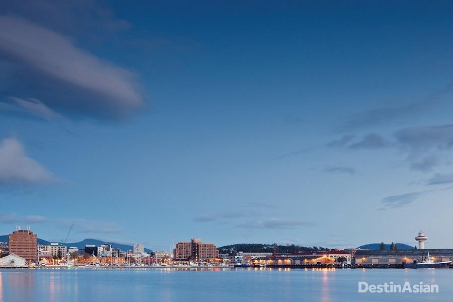Hobart's historic Sullivans Cove waterfront.