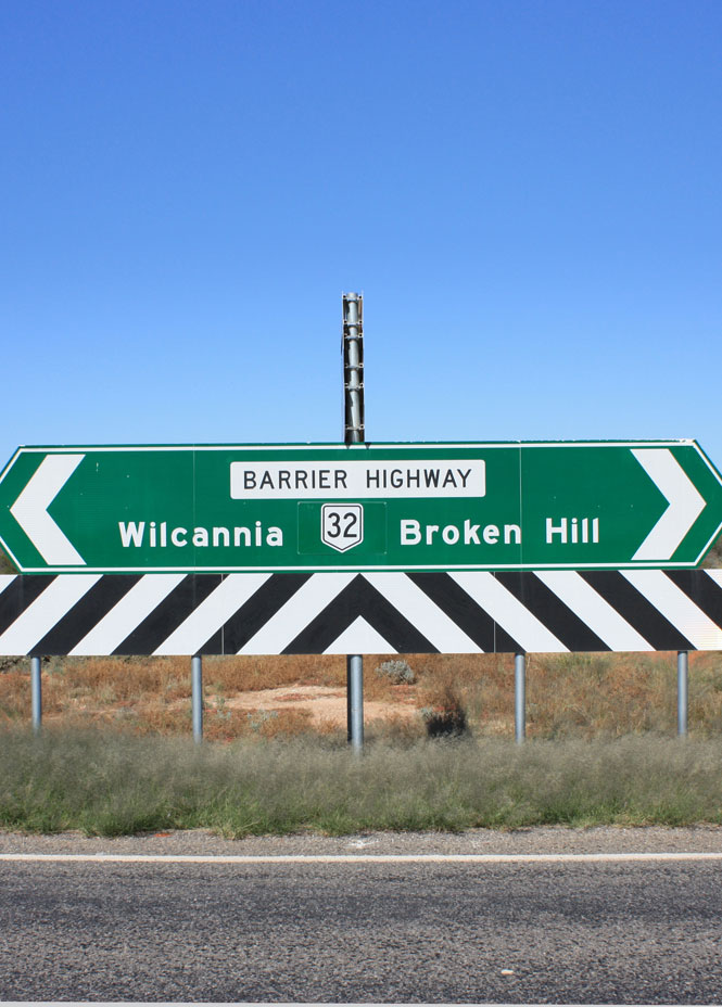On the road to menindee.