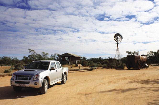 Outside the shearers' Quarters accommodation at Kinchega National Park