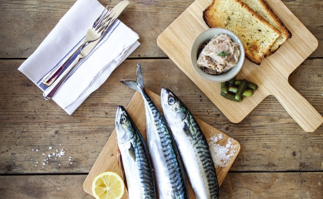 The Pig and Butcher's seasonal menu includes Cornish mackerel and goose rillettes with cornichons.