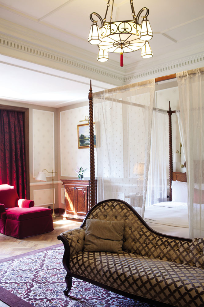 One of the hotel's period-style suites.