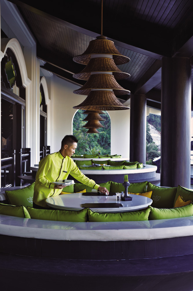 Alfresco dining booths at Citron