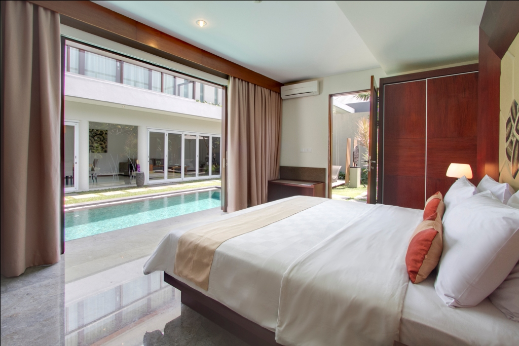 Clean villa designs make for a relaxing atmosphere in Seminyak.