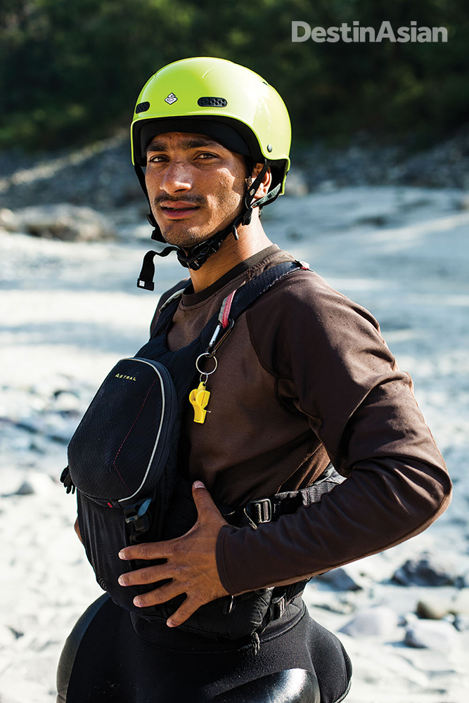 Aquaterra rafting guide Sohan Singh Rana.