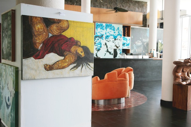 Guests can not only appreciate the artwork, they can take it home too.
