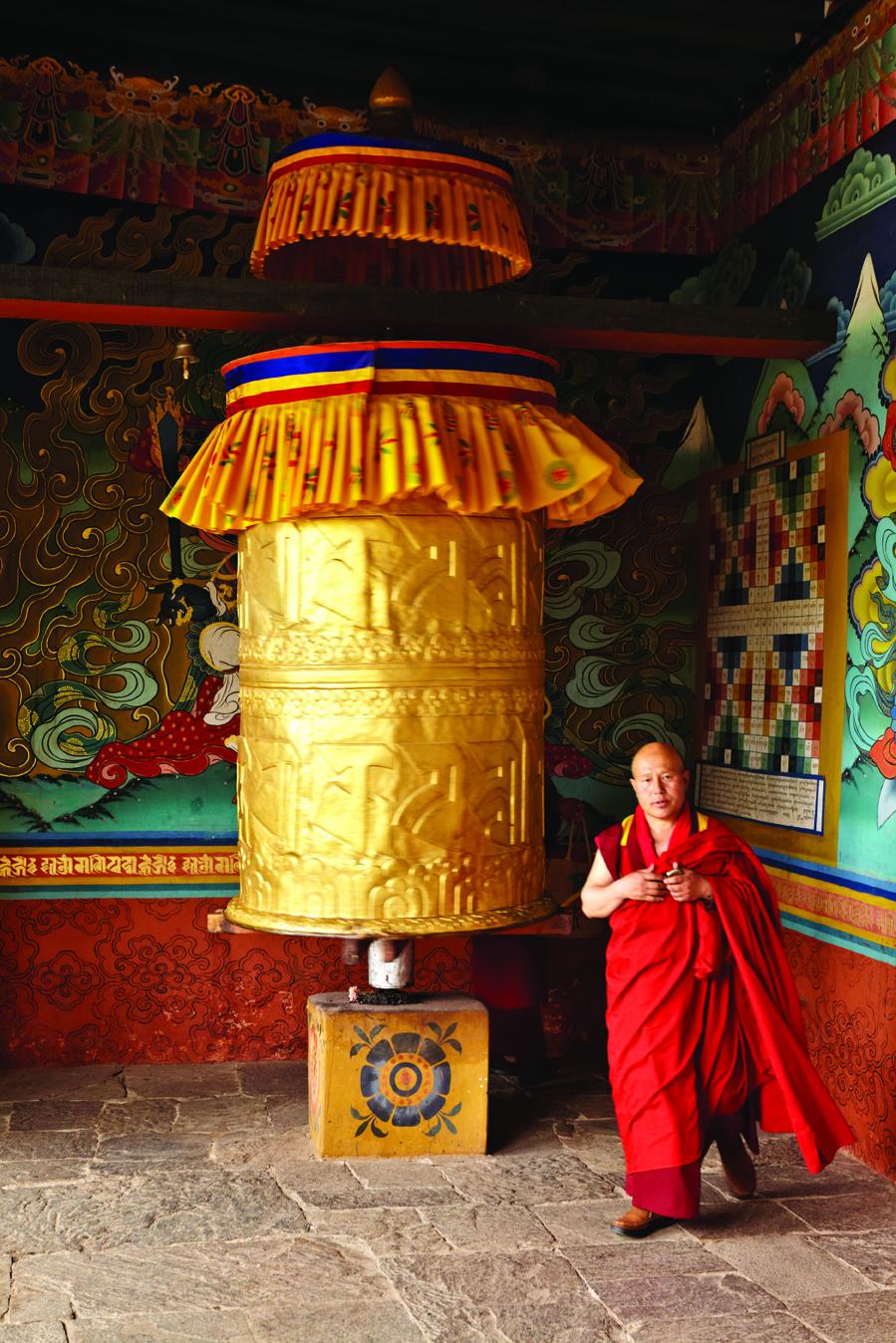 A prayer bell at Punakha Dzong.