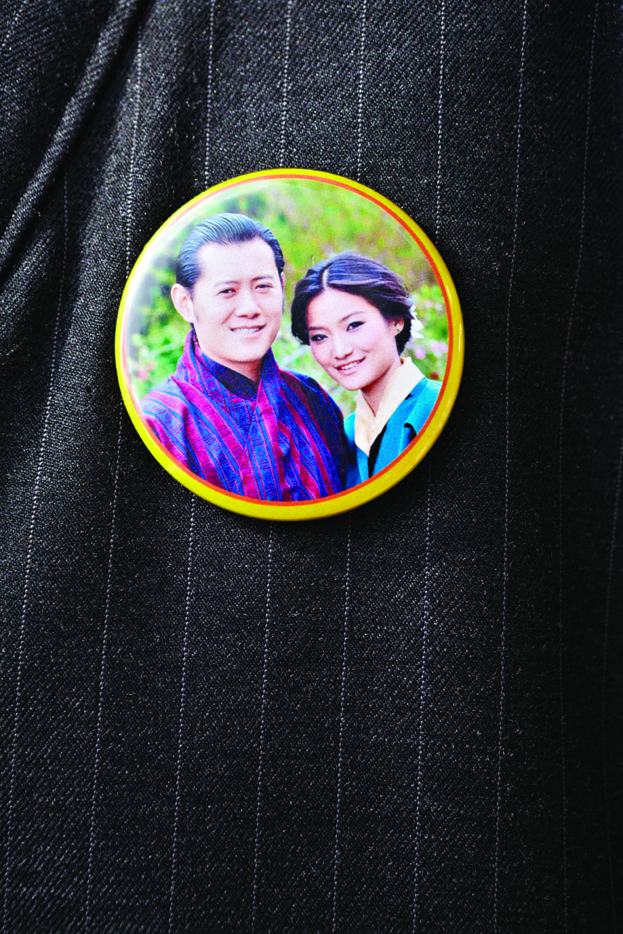 Pictures of the royal couple appear everywhere in Bhutan.