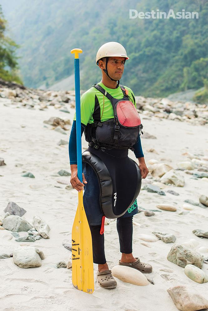 Aquaterra rafting guide Avval Singh Bhandari.