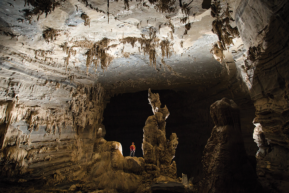 A chamber deep inside Hang Tien, one of the largest and oldest cave sin the region. It's estimated to have been formed 550 million years ago.