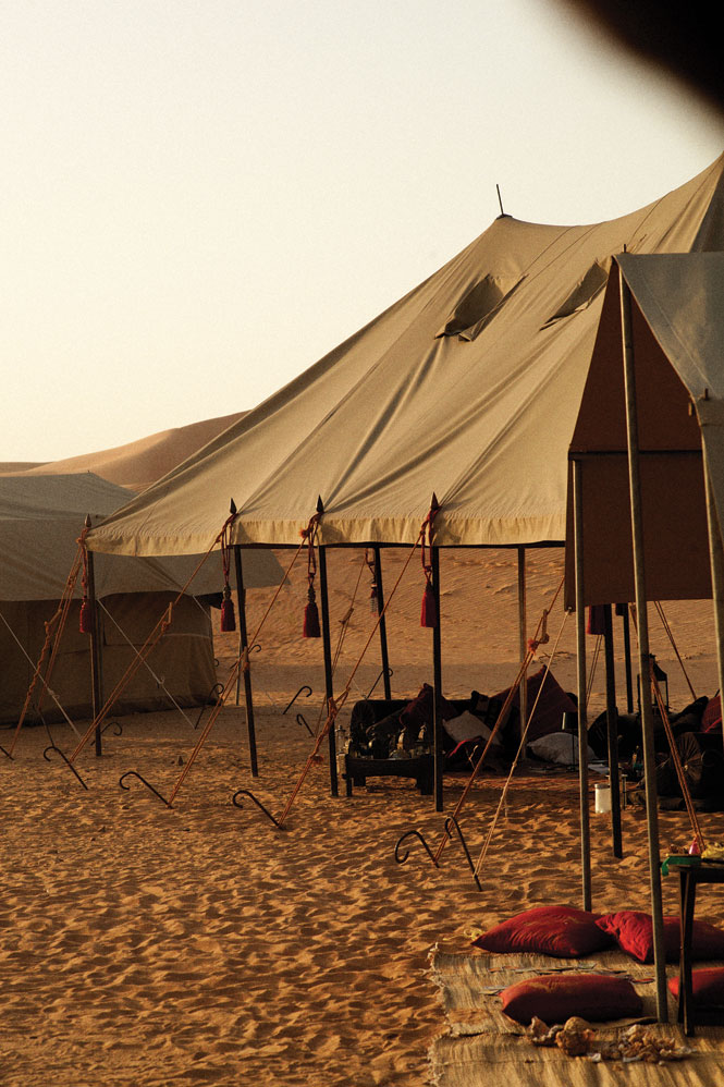A majlis (meeting tent) at Hud Hud travels' Empty Quarter camp.