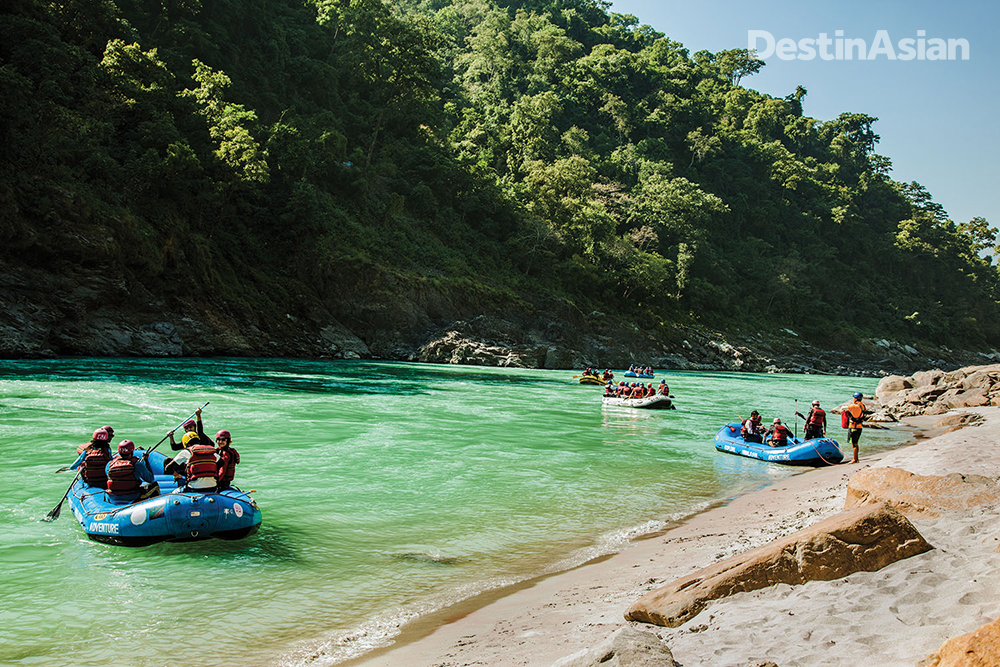 Shivpuri and other beaches along the Ganges once bristled with camp tents,