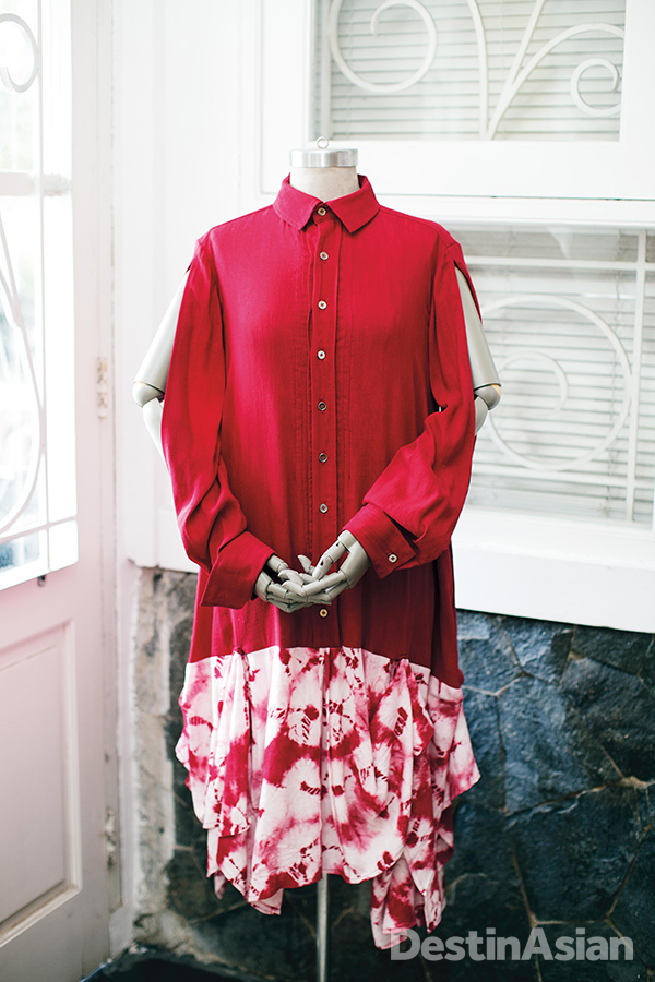 Japanese dying techniques feature in Purana's recent Arashibori collection.