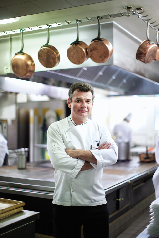 Chef Pierre Marin at Auberge Lamartine.