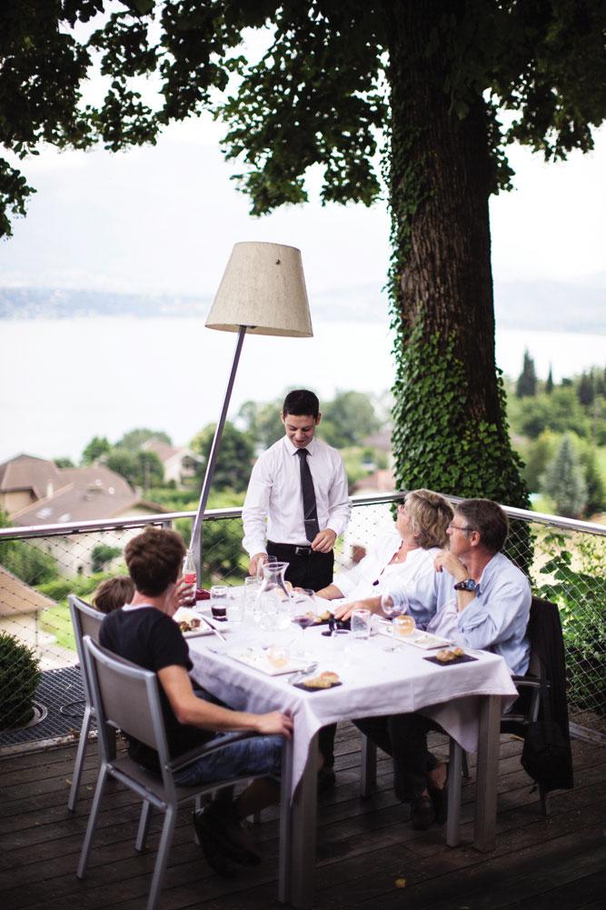 Lamartine's dining terrace.