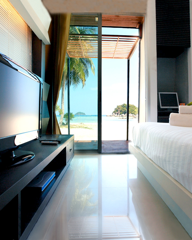 A Bedroom Just Steps From The Sand at The Idyllic Concept Resort on Koh Lipe.