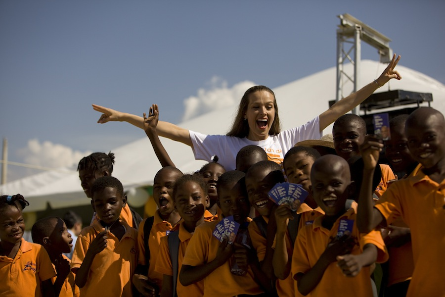 Happy Hearts Fund's work in Haiti propelled Petra into being named as an ambassador-at-large for the country in 2012.