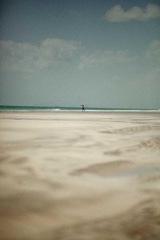 Low tide on the Arabian sea coast near Mirbat.