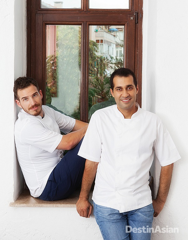 Chefs Uryan Dogmus and Cihan Kipcak at Gile.