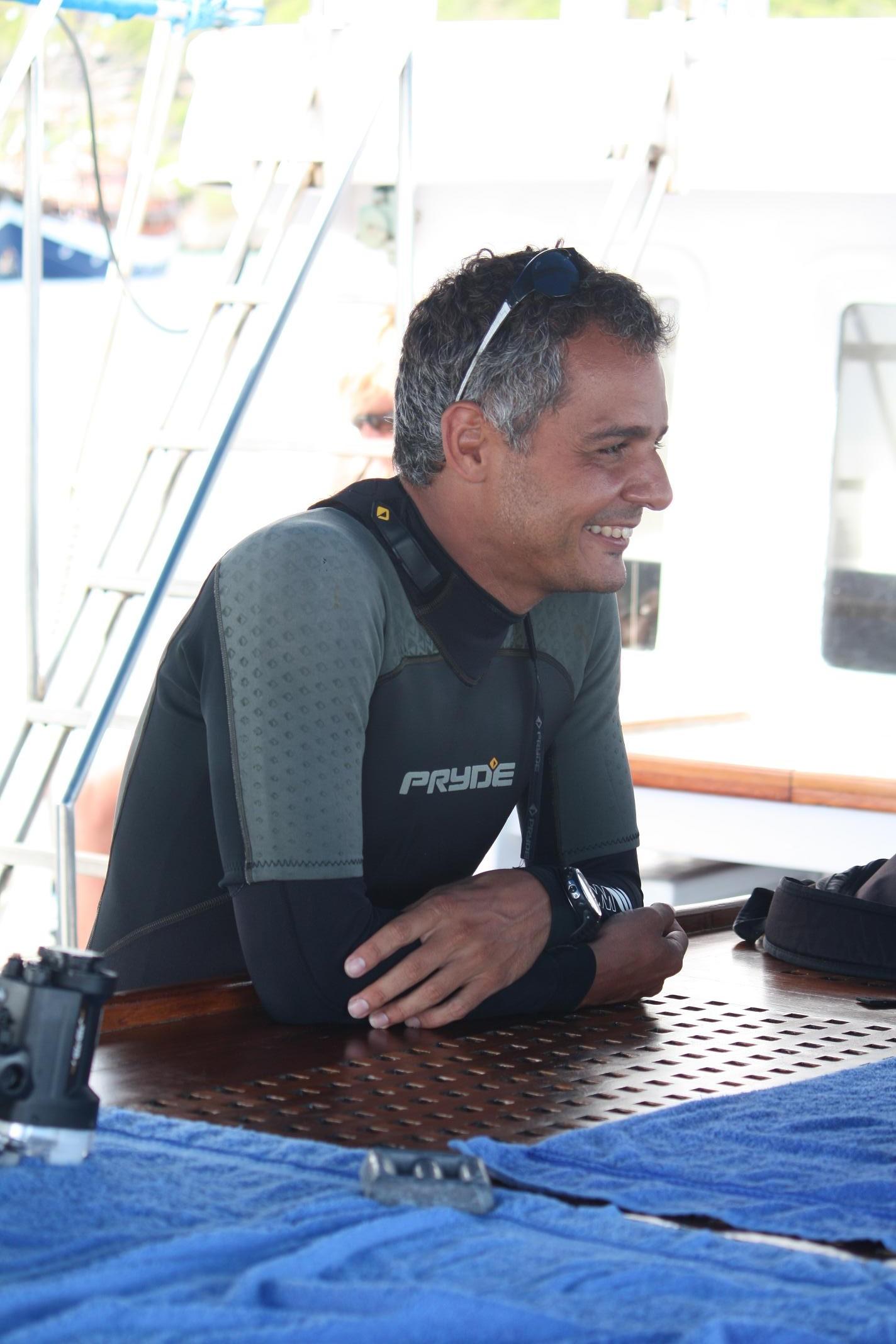 Cruise director Mario Gonzalez.