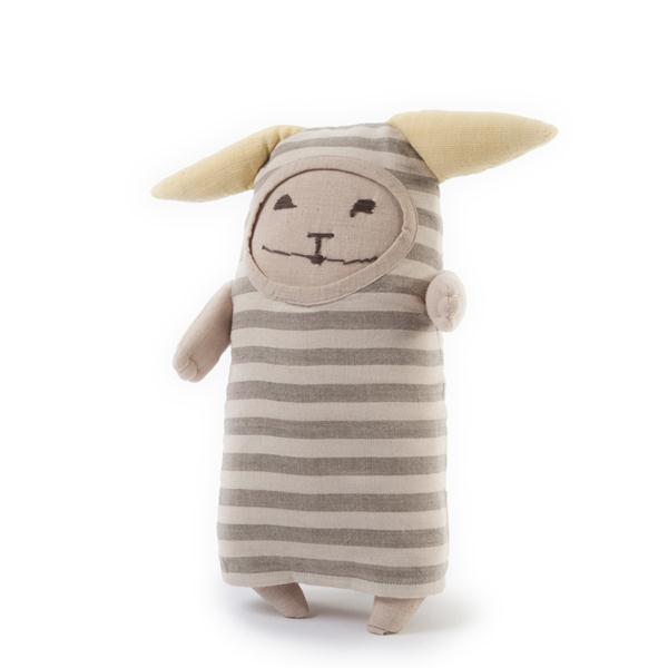 The Wide Horn doll is a collaboration between a designer in the U.S. and artisans in Cambodia.