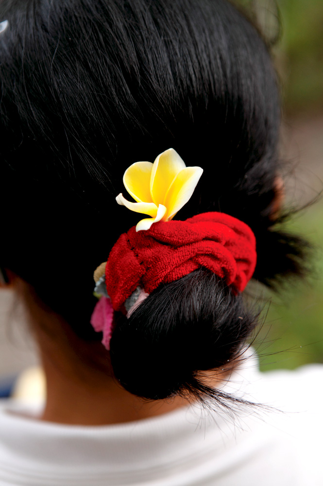 The mood at The Menjangan is casual, right down to the staff's choice of hair accessories.