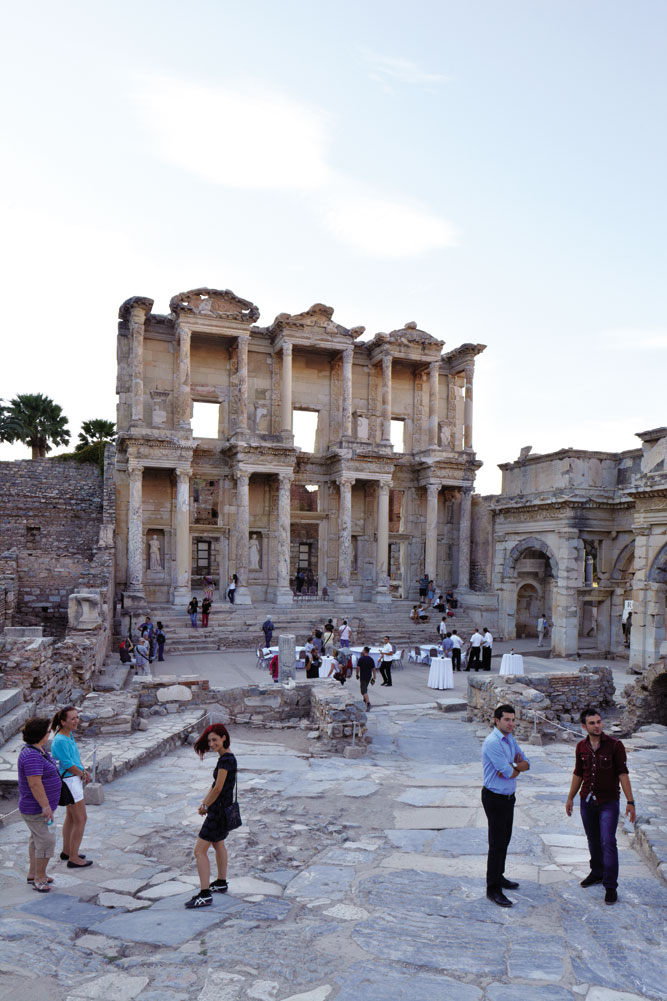 What remains of the Great Library of Celsus at Ephesus.