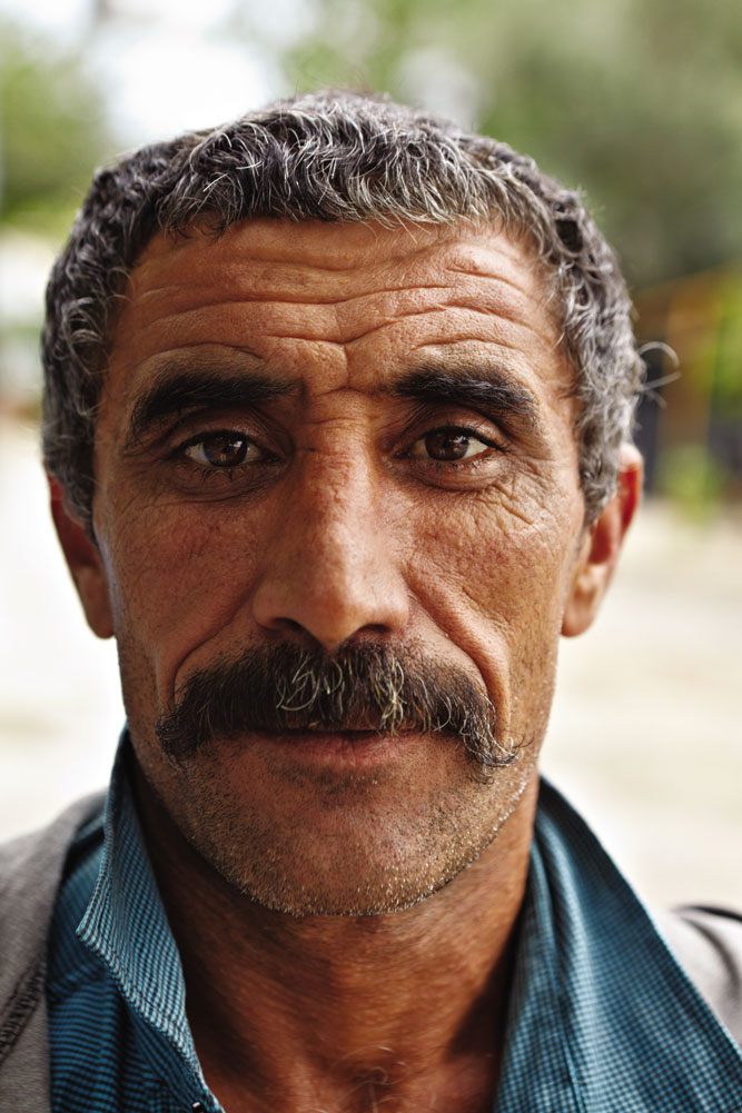 A simit (sesame bagel) seller at Myra.