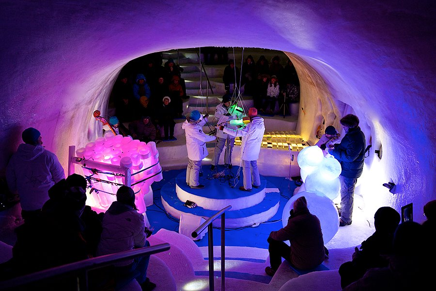 The concert venue hits minus 5 degrees Celsius and can accommodate 170 spectators.