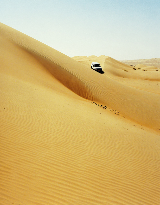 Navigating dunes amid the Wahiba Sands.