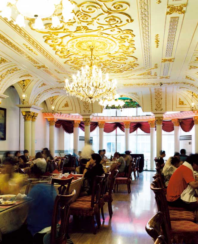 The dining room at Huamei, one of the oldest Russian restaurants in Harbin.