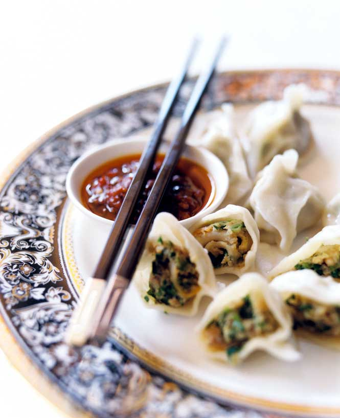 Sea-snail dumplings are another local specialty at the Shang Palace.
