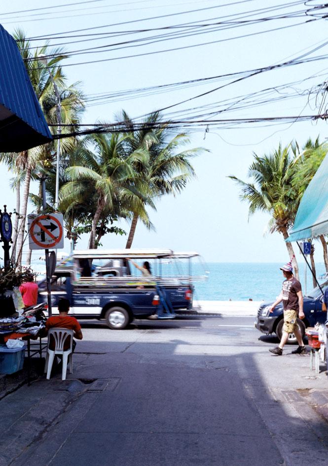 Beach Road traffic.