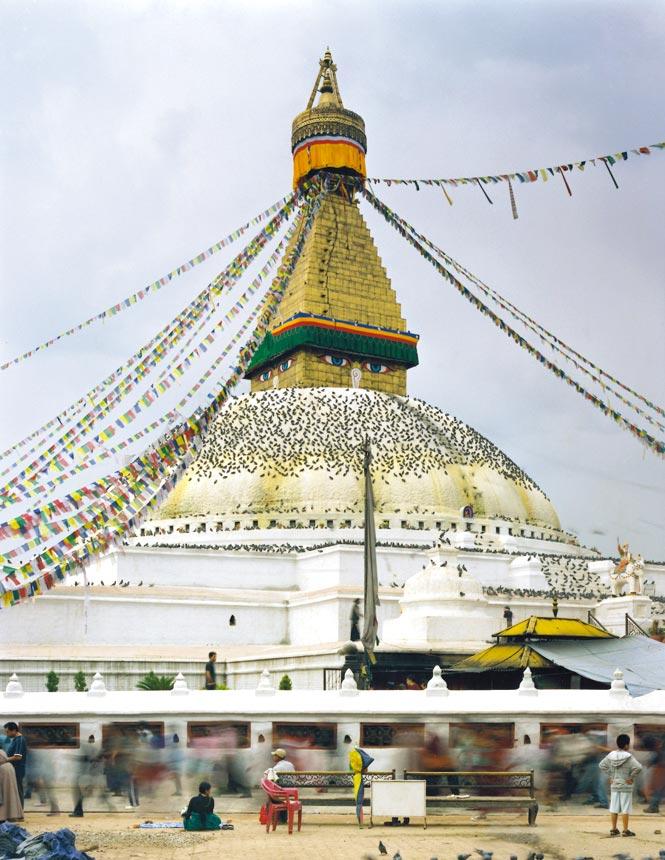 Kathmandu's famed Bodhnath stupa.