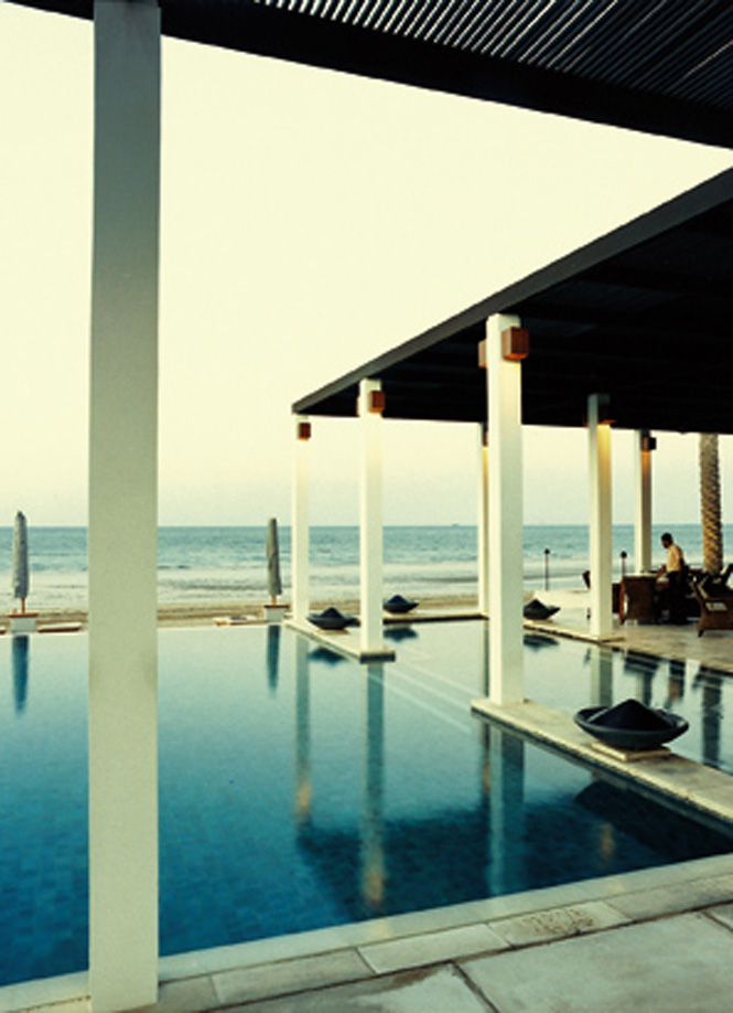 The pool at The Chedi, arguably Oman's most stylish hotel.