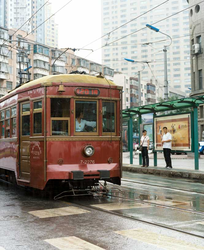 A handful of trams and trolley buses still operate in Dalian, a legacy of Dongbei's Japanese occupation.