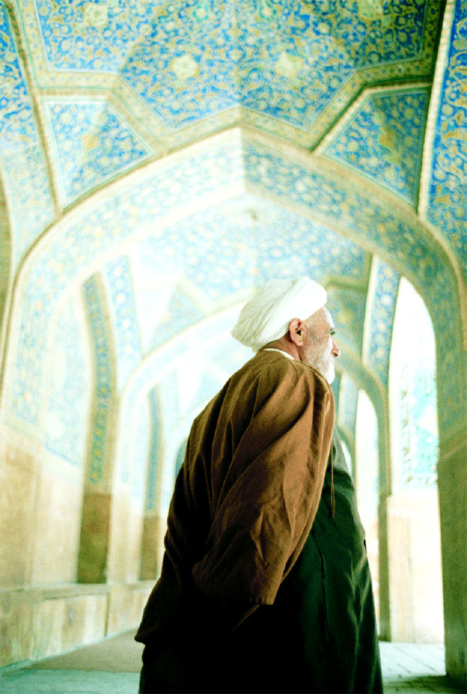 A mullah at Esfahan's Imam Mosque.