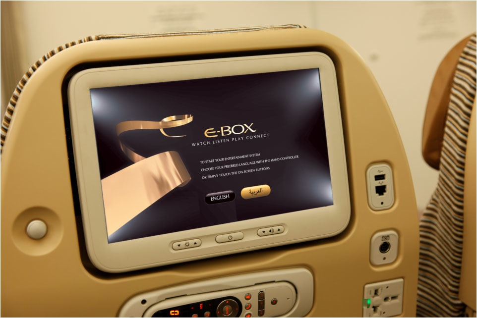 The games are transmitted to each personal entertainment system.