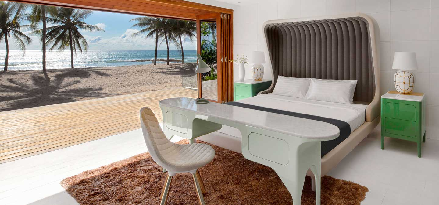 A room with a dazzling view of Natai beach at the Iniala Beach House.