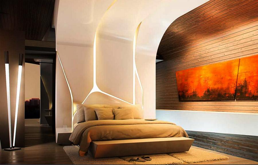 A bedroom at Villa Bianca.