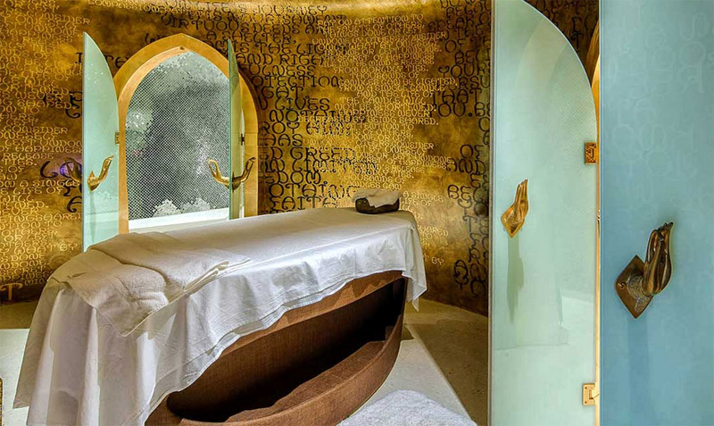 The spa at Villa Siam is located inside an antique bell.
