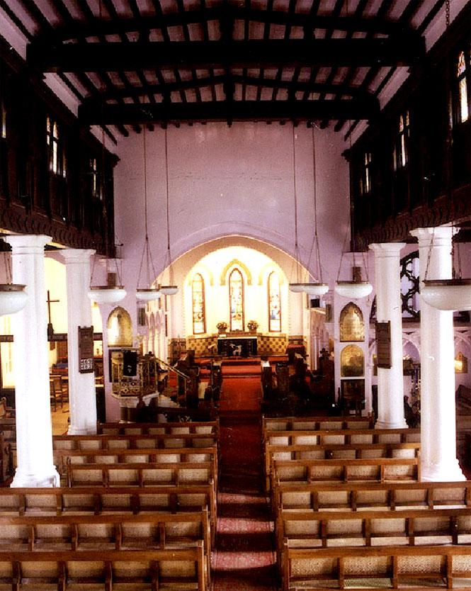 Inside Ooty's St. Steven's, the oldest church in the Nilgiris.