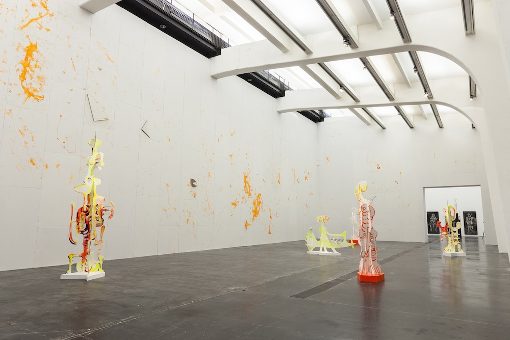 Aaron Curry's art occupies an exhibition space.