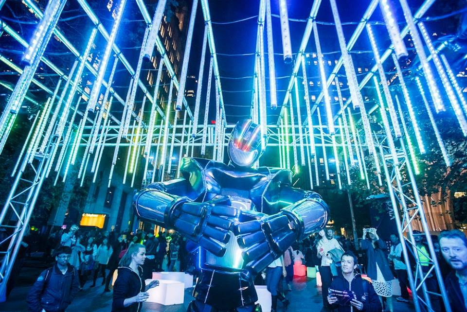 A robotic art installation by Intel in 2014. (Photo: Destination NSW).