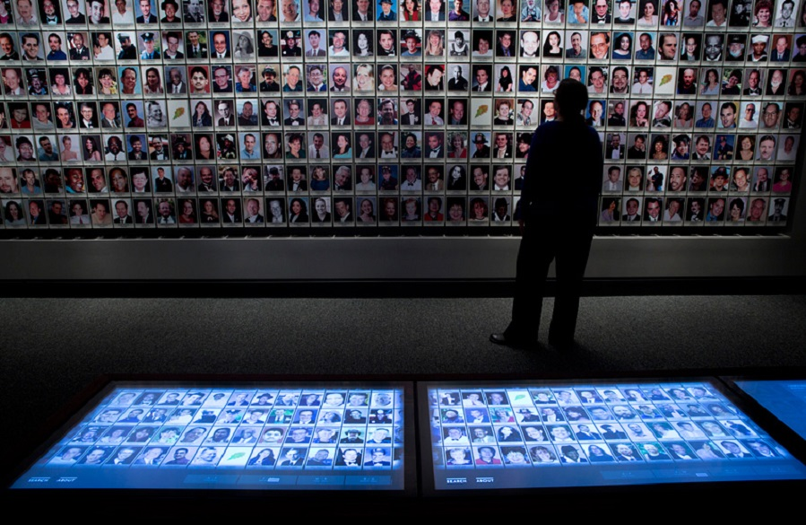 Interactive touchscreens let visitors guide themselves through information about the day.