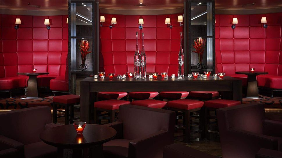 The bar lounge at the Steakhouse Winebar and Grill.
