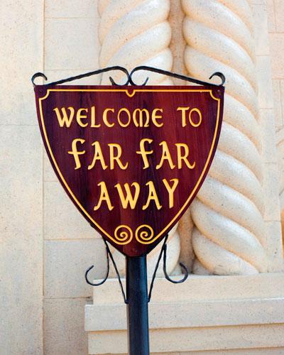 Theme-park signage.