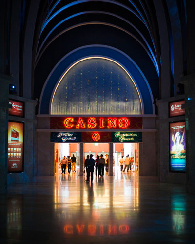 Resorts World's casino is the first of its kind in Singapore.