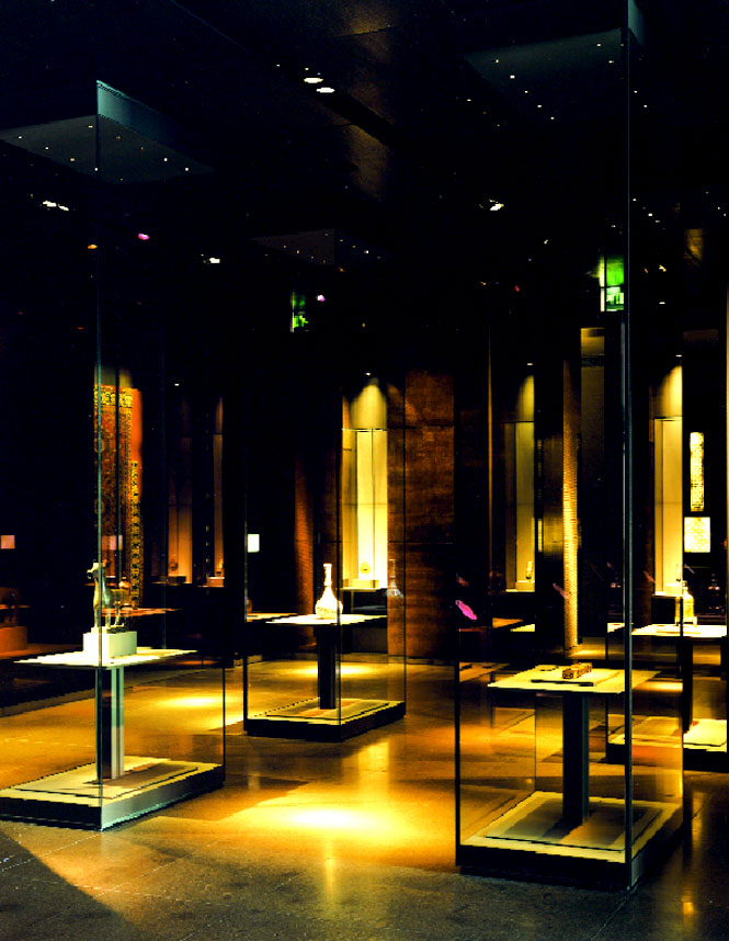 Priceless Islamic artifacts on display in one of the museum's galleries.