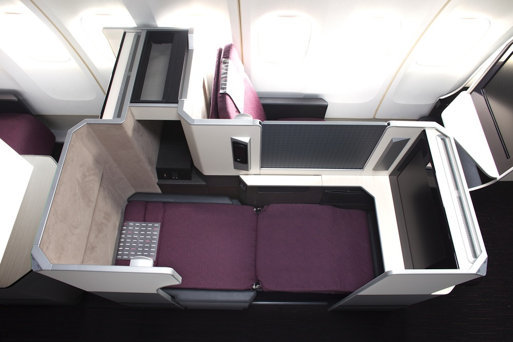 The fully-flat Sky Suite business class.