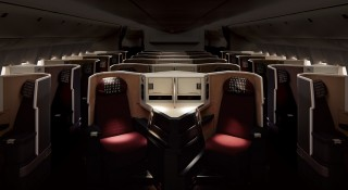 Business passengers can enjoy direct aisle access with the aircraft's 1-2-1 layout.